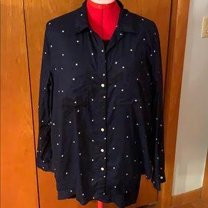Gap star print boyfriend shirt